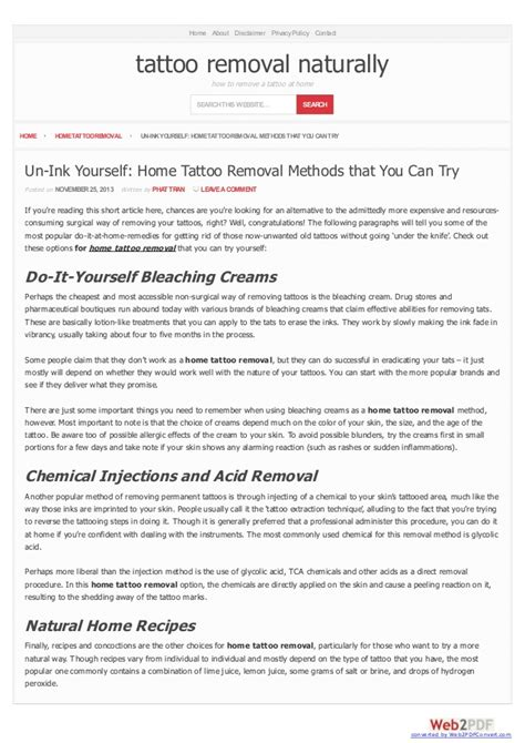 how can i remove my tattoo at home un ink yourself home removal methods that you can try