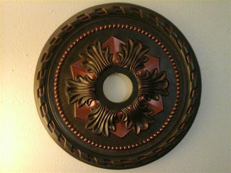 Black Ceiling Medallion by Painted Leather Copper Look Ceiling Medallion 20 7 8 Quot