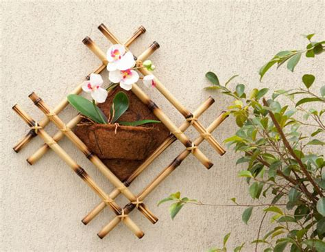 home wall decorating ideas diy bamboo wall decor ideas 2 craft projects with bamboo