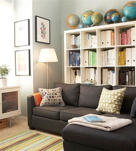 gray walls white bookshelves gray