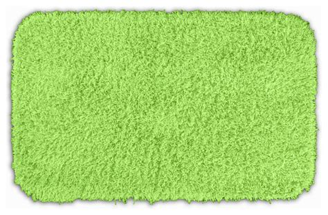 Lime Green Bathroom Rugs Quincy Shaggy Lime Green Washable 24x40 Bath Rug Contemporary Bath Mats By Overstock