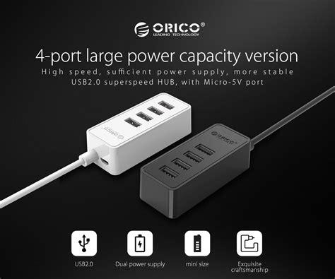 orico usb2 0 4 ports with micro usb usb hub orico w5p u2 30 blk 11street malaysia cable