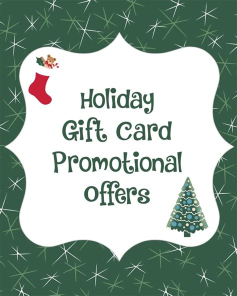 Gift Card Incentives - holiday gift card bonus promotional offers for 2014 bargainbriana