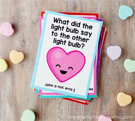 valentines jokes free printable lunch box jokes artsy fartsy