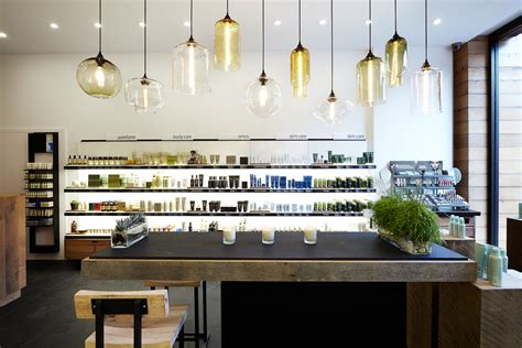 Niche Modern Bare Bulb Pendant Lighting In An Aveda Beauty Kitchen Lighting Stores
