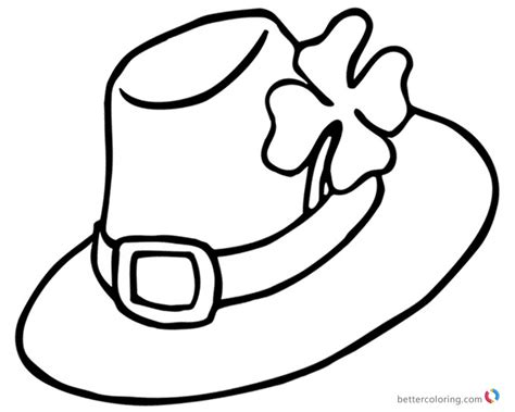 fancy hat coloring page four leaf clover coloring pages fancy hat free printable