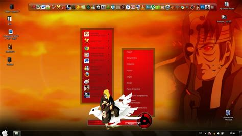 tema naruto themes tema de deidara theme for windows 7