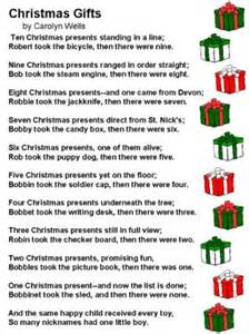 poem christmas gifts by carolyn wells
