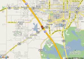 map of country inn suites by carlson gainesville fl