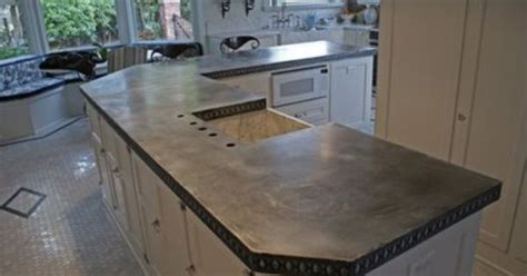 Zinc Countertop Cost this is a zinc countertop this is school it is a softer metal than stainless and