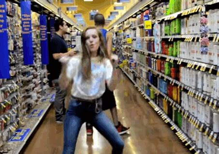 Blueqs From Strangers Shopper Is Like To A Baby by Hilariously Dances Strangers At The