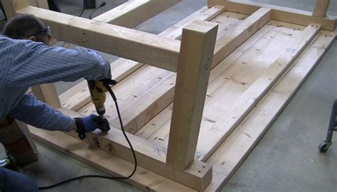 diy attach table legs how to build a farmhouse table