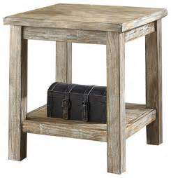 End Tables And Nightstands Rustic Accents Chairside Accent End Table Distressed