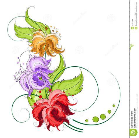 fiori disegnati da bambini fiori disegnati a mano illustrazione vettoriale