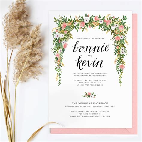 Floral Wedding Invitations Floral Wedding Invitations By Floral Wedding Invitation Template