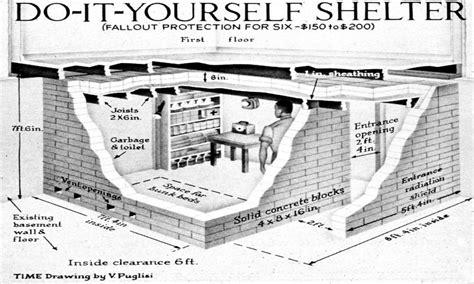 bomb shelter plans prefabricated storm shelters underground diy underground