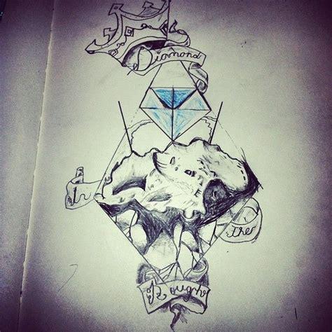 rough diamond tattoo huddersfield diamond in the rough tattoo sketch art pinterest
