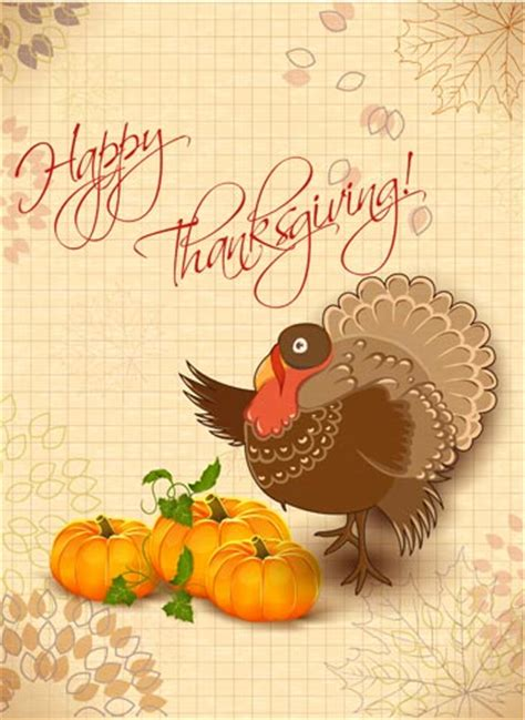 Happy Thanksgiving Vector Cards Thanksgiving Card Template Free