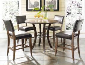 hillsdale cameron 5pc round counter height dining set w
