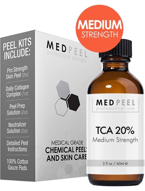 Tca 20 Cairan Peeling 100ml tca 20 peel kit trichloroacetic acid medpeel professional strength at home skin peels