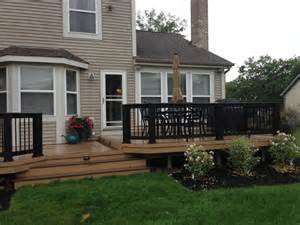 grade deck patio multi level low to grade timbertech deck dublin columbus lr