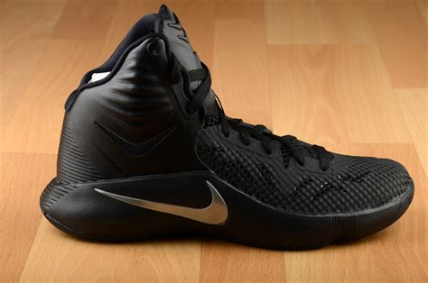 black basketball shoes nike zoom hyperfuse 2014 684591 001 new mens black