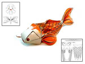 3d fish template pin papercraft fish free hello box template 3d model