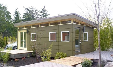 prefab backyard guest house 12x24 modern shed guesthouse architecture pinterest