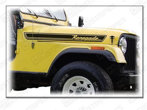 Jeep Renegade Decals Jeep Renegade Side Stripes Decals Kit Cj Ebay