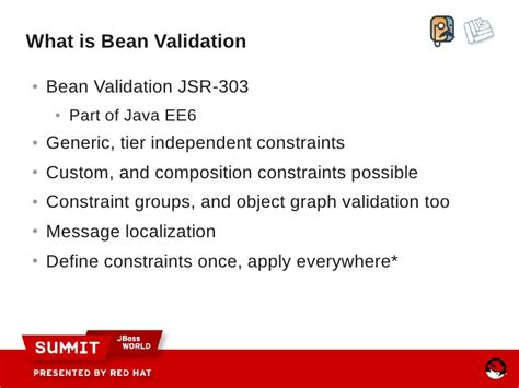 pattern bean validation going above jsf 2 0 with richfaces and seam