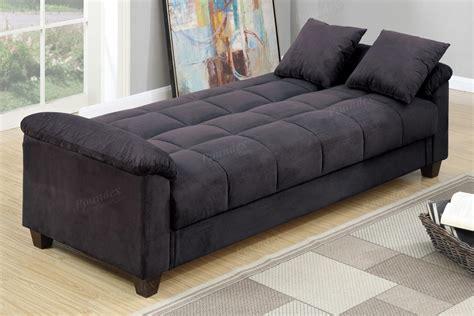 Black Fabric Sofa Bed Poundex Gertrude F7888 Black Fabric Sofa Bed A