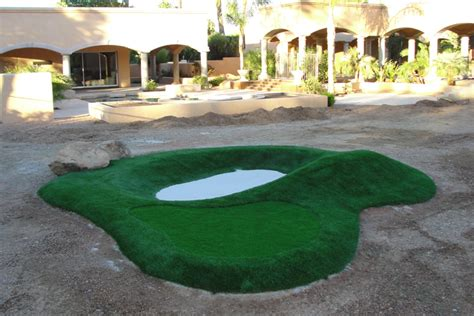 small backyard putting green synthetic grass artificial putting greens custom design installed