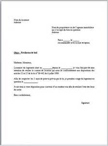 modele lettre preavis location agence document