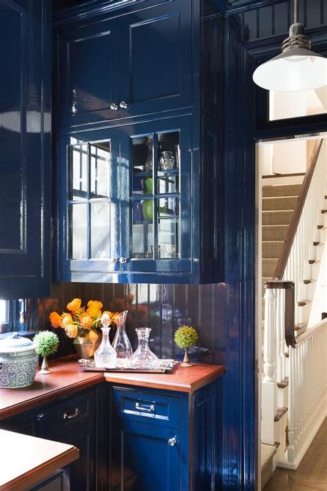 blue kitchen cabinets eclectic kitchen miles redd