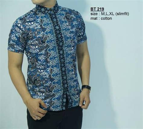 Baju Batik Kemeja Pria Slimfit Bt 275 jual baju batik kemeja pria slim fit bt 219 cemerlang batik