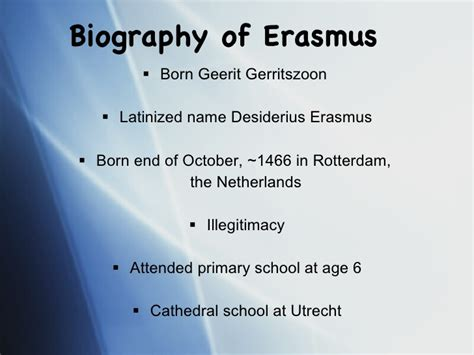 erasmus biography facts william mary english department honors thesis