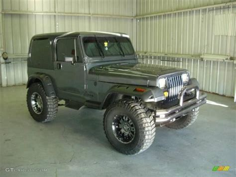 jeep wrangler grey 1990 charcoal gray metallic jeep wrangler laredo 4x4