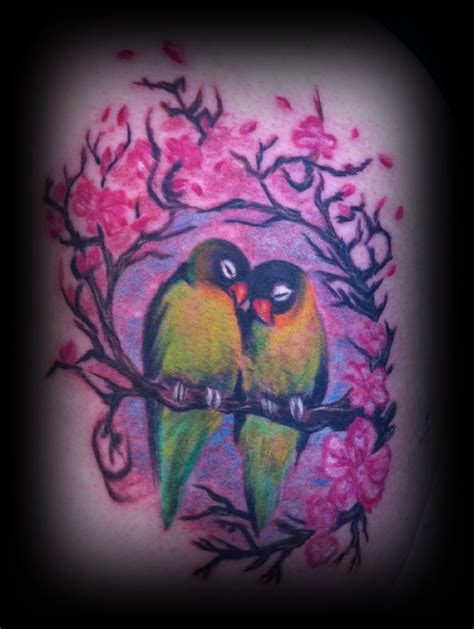 love birds tattoo birds by tish tattoos