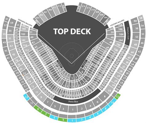 dodger stadium seating chart rows los angeles dodgers