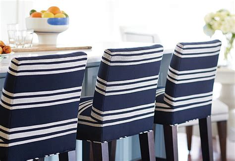 Navy Blue Fabric Bar Stools by House With Airy Coastal Interiors Home Bunch