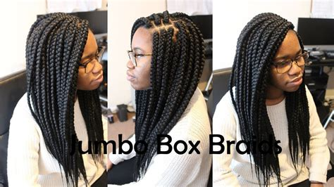 step by step to do jumbo senegalese jumbo large box braids tutorial how to youtube