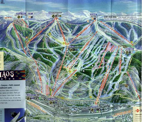 vail colorado ski map vail co ski resort