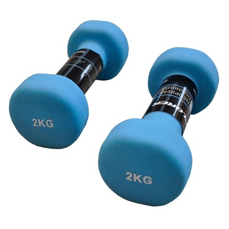 Murah Original Toning Kettler Purple 2kg neoprene dumbbells set xplorer blue 2kg