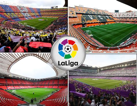 la liga la liga stadiums ranked by capacity sport galleries