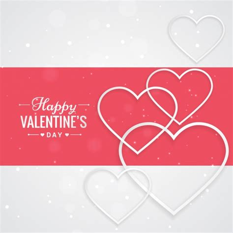 valentines day greeting with hearts vector free