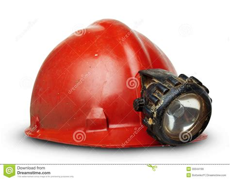 miner hard hat with attached light vintage miners helmet with l stock image image 30044199