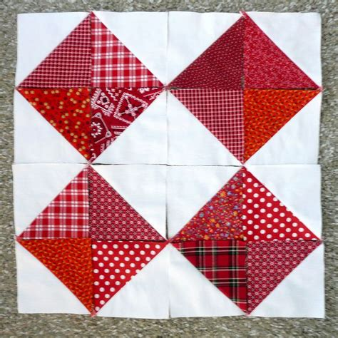 triangle with pattern blocks half square triangle quilt blocks by iamsusie via flickr