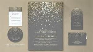 read more gold foil confetti wedding invitations wedding invitations by jinaiji