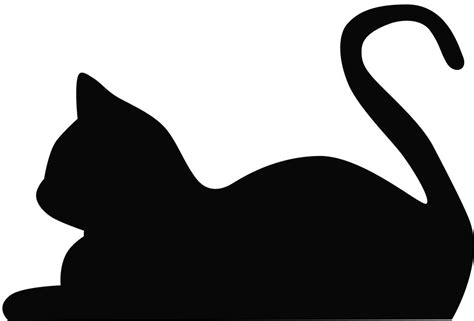 cat silhouette template cat outline cliparts co
