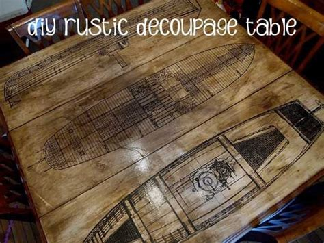 Decoupage Poster To Wood - diy table top diy table and decoupage on
